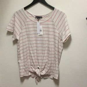 NWT Sanctuary Lou Striped Tie Front Tee